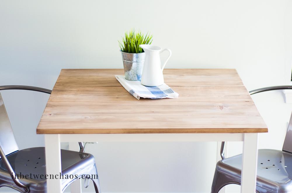 DIY farmhouse table from an Ikea hack