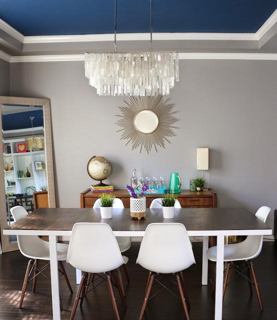 Mid century modern Ikea hack diy dining table