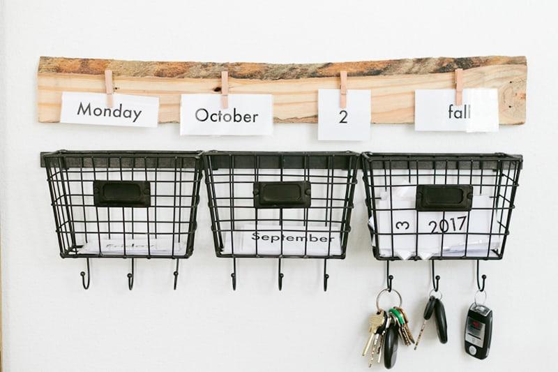 Educational Home DIY Wall Calendar