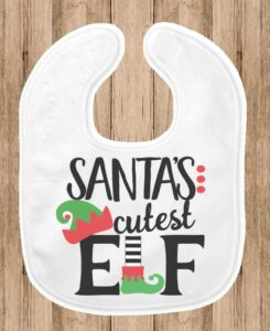 Santa's cutest elf baby's first Christmas bib