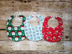 Custom classic baby's first Christmas bib