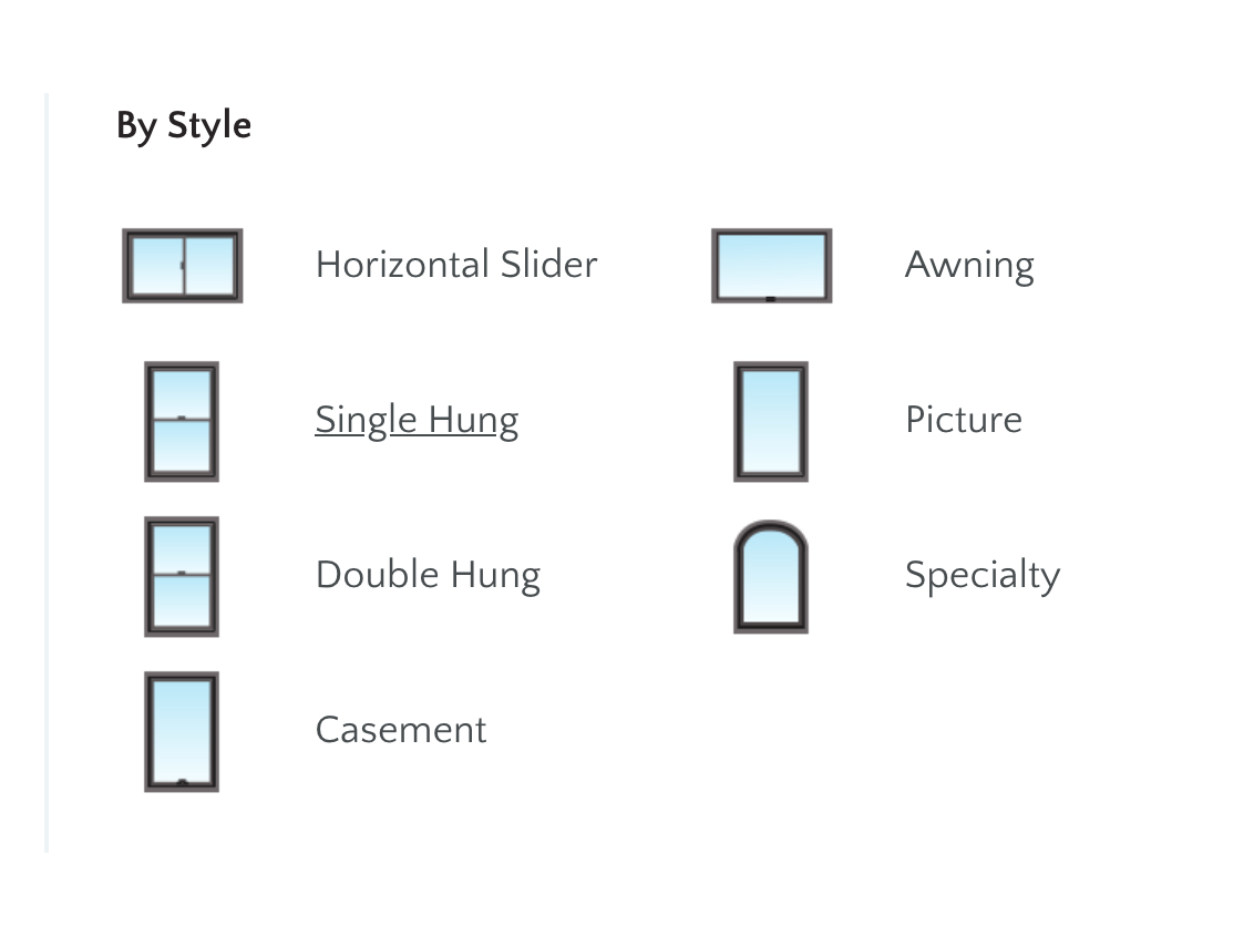 Different shapes of windows you can choose from Milgard