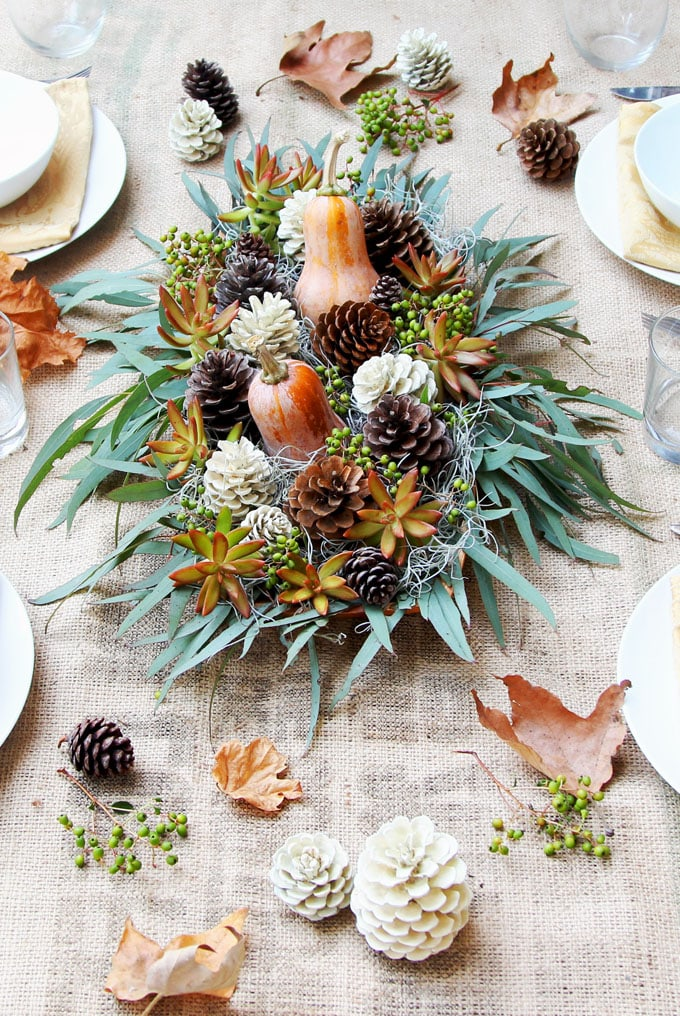 How To Decorate Your Table For Thanksgiving Dinner The Turquoise Home