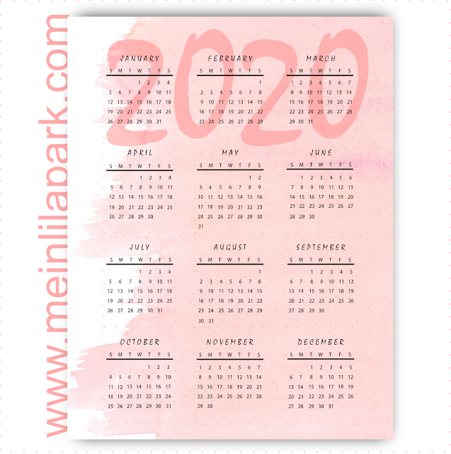 50+ Free Printable Calendars For 2020