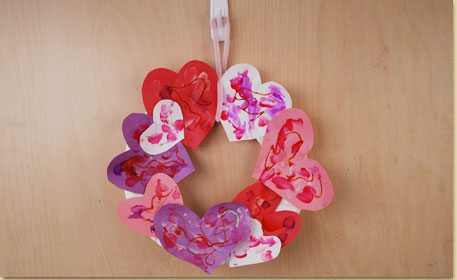 This heart wreath makes a great preschool Valentine's Day craft