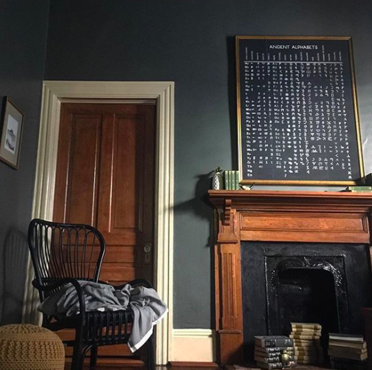 Dramatic and moody walls with Kendall Charcoal paint