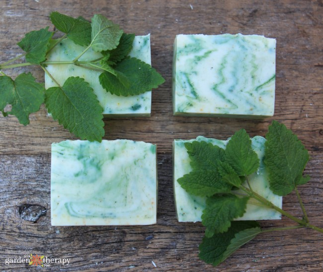 This lemon balm homemade soap is natural and incredible.