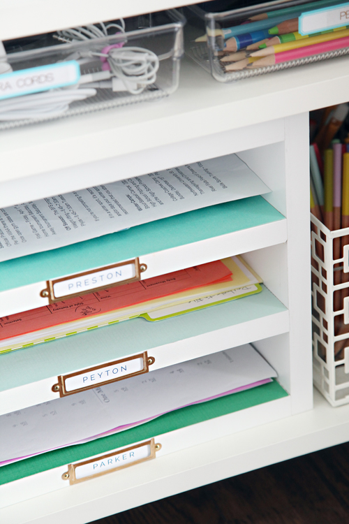 Easy Office Organization Ideas - DIY paper organizer
