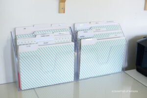 Easy Office Organization Ideas - file folders