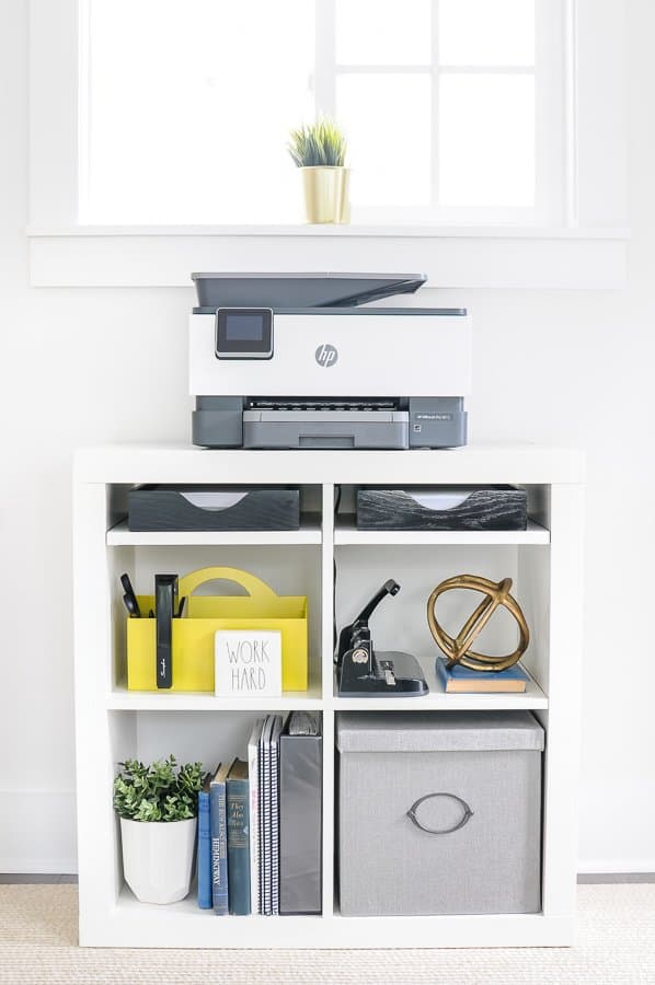 Easy Office Organization Ideas - printer station