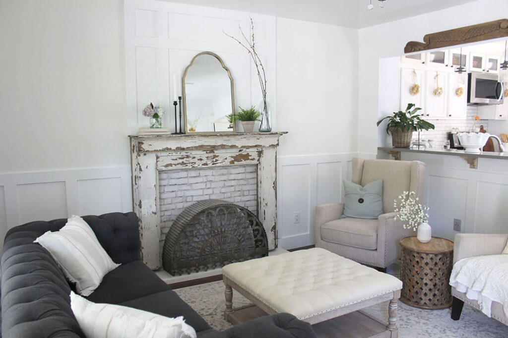shabby chic faux fireplace