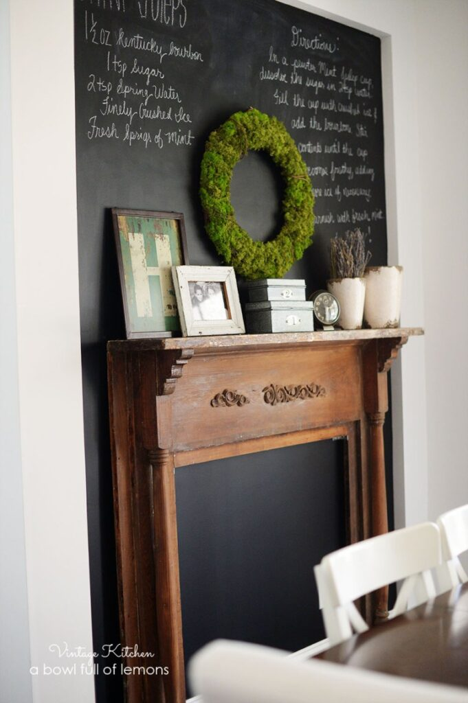 farmhouse faux mantle
