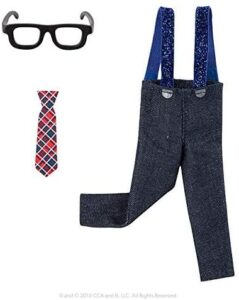 Elf on the Shelf Clothes: Jazz outfit with glasses, tie, slacks and suspenders.