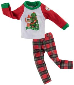 Elf on the Shelf Clothes: Flannel pajama set