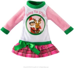 Elf on the Shelf Clothes: Christmas Nightgown
