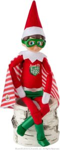 Elf on the Shelf superhero outfit