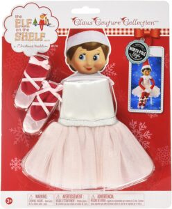 Elf on the shelf ballet tutu and pointe shoes